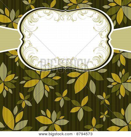 Hintergrund mit Blumen braun, vector