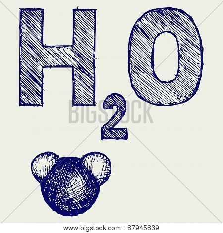 H2O. Doodle style
