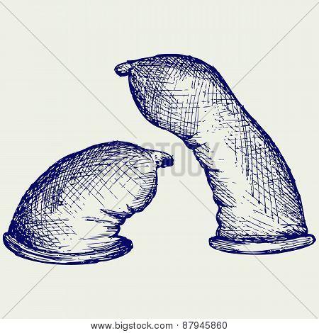 Condom ready to use