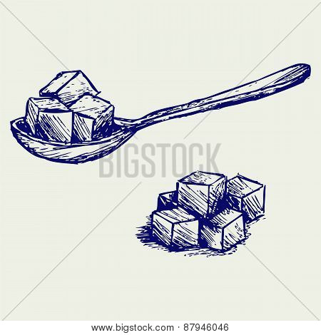Refined white sugar