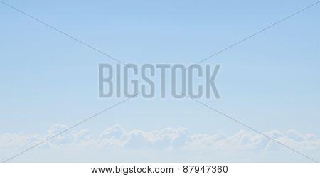 Nice white cloud on the blue sky