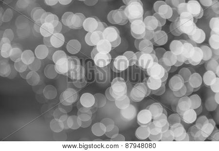 Monochrome Bokeh Background