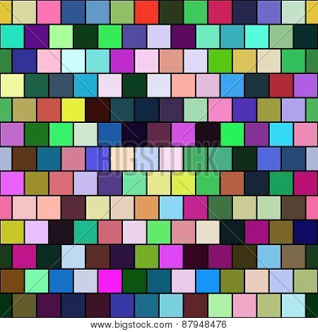 Seamless Color Tiles - Checkered geometric Background, Wallpaper