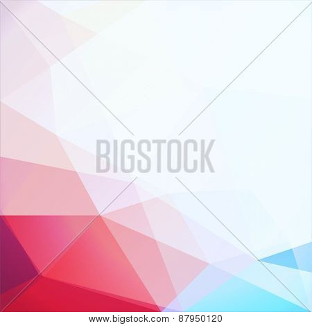 Abstract vibrant geometric triangles background - eps10 vector