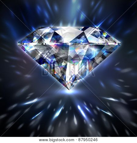 Dazzling shiny colorful diamond background - eps10