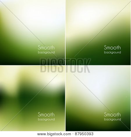 Smooth natural backgrounds collection - eps10