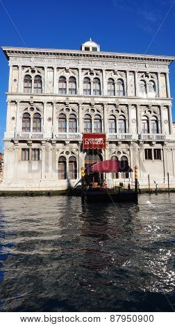 Casino Di Venezia Building On The Grand Canal In Venice