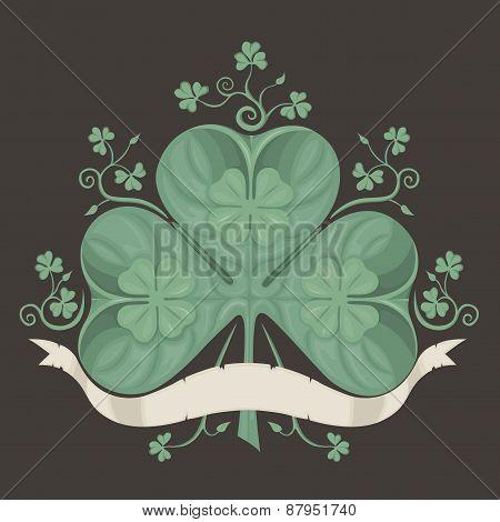 Illustration of clover, trefoil.