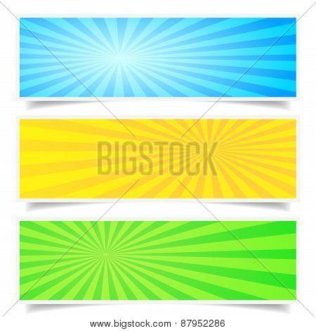 Sunburst Backdrop Banner Set