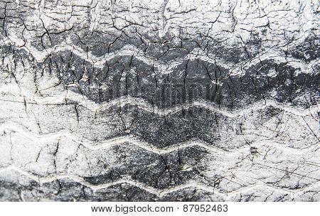 Texture Of Tire, Black And White, Horizontal