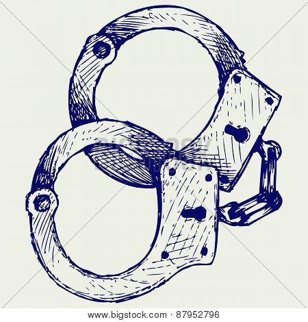 Metallic handcuffs