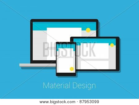 material deign responsive interface layout