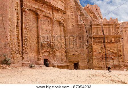 Petra, Ancient City-necropolis, Carved Into Rock