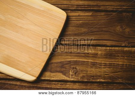 Wooden board on a table shot in studio