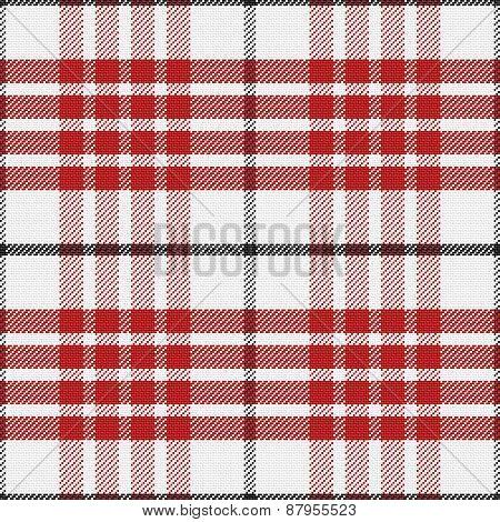 vector seamless red pattern Scottish tartan