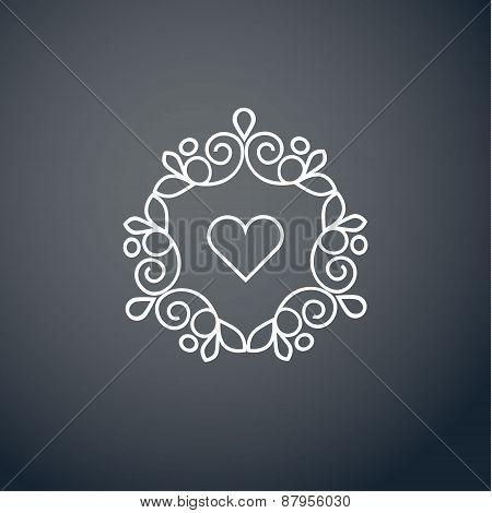Lineart logo design elements