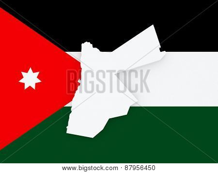 Map of Jordan. 3d