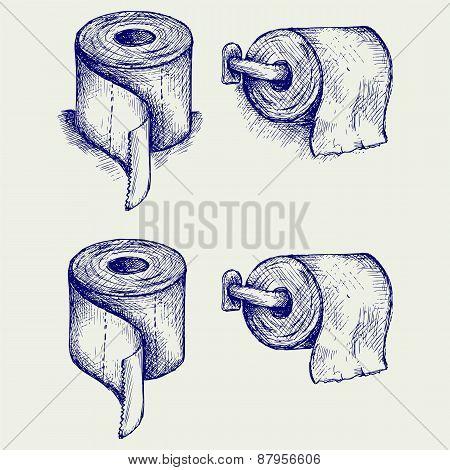Simple toilet paper