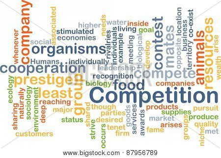 Background text pattern concept wordcloud illustration of competition