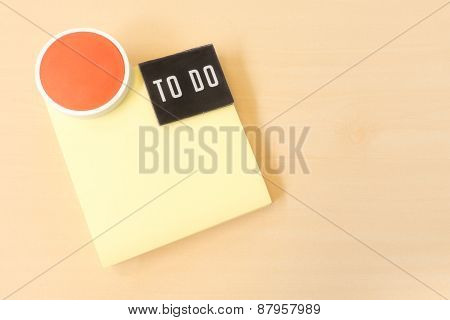 To Do List On Yellow Sticky Paper Note