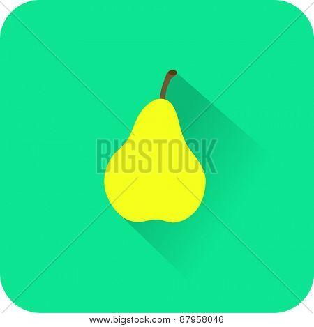 Flat color icons pear. UI design.