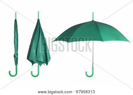 Set of umbrellas