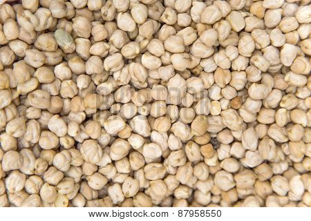 Chickpea On Market In Morocco