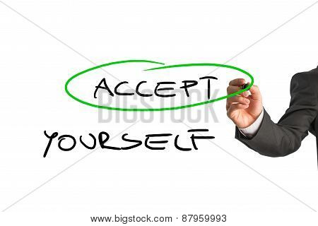 Accept Yourself Message