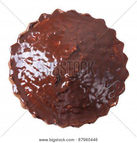 Top View Of Glazed Pie