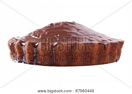 Side View Of Glazed Pie