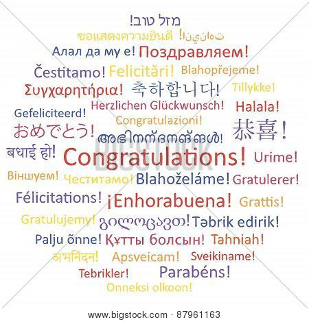 Congratulations. Word Collage