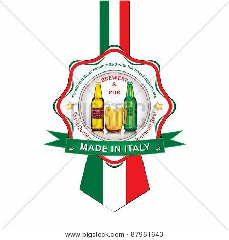 Italian Beer label for print