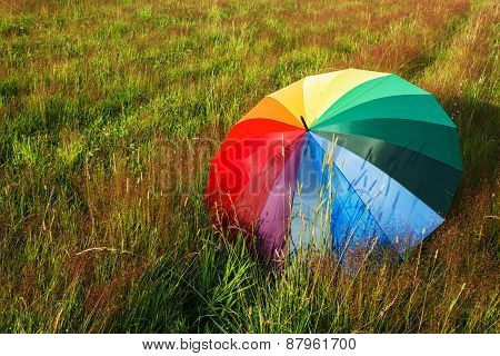 Colorful umbrella outdoors