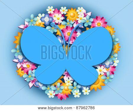 Happy Flowers Background