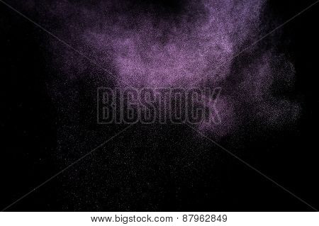 Abstract purple  paint Holi.