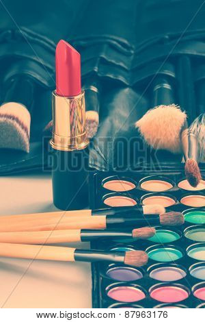 Make-up collection. Toned image