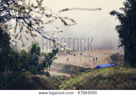 Vietnamese children playing