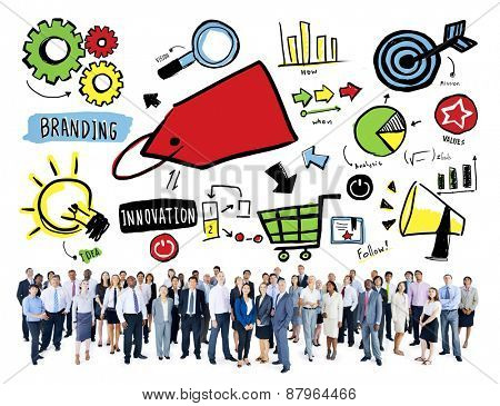 Business People Branding Team Marketing Aspiration Corporate Concept