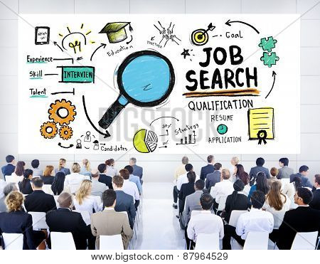 Multiethnic Business Group Job Search Seminar Conference Concept