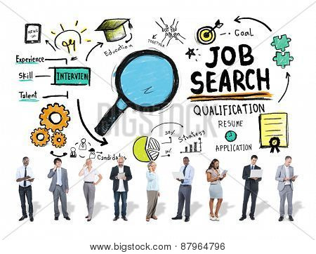 Diversity Business People Digital Devices Job Search Concept