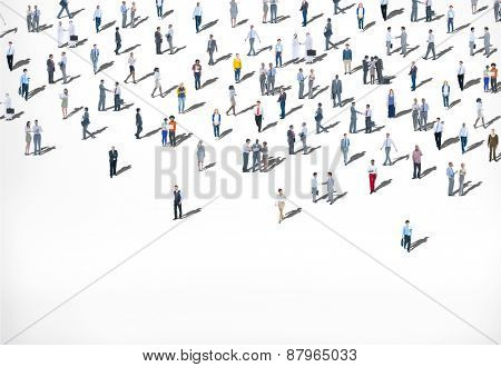 Crowd Large Group of People Multiethnic Diversity Concept