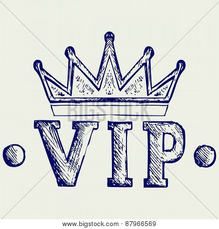 Vip crown symbol