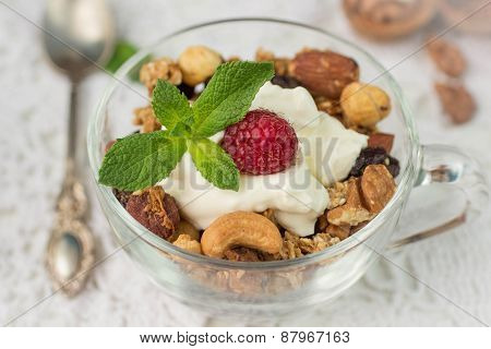 Muesli. Home made granola