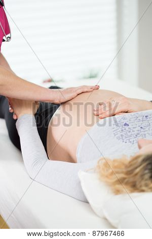 Pregnant Woman During Medical Appointment