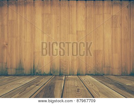 vintage wooden room, retro filtered, instagram style