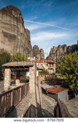 Cityscape In Kastraki, Meteora, Greece