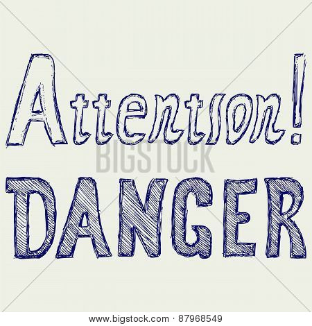 Word danger and attention