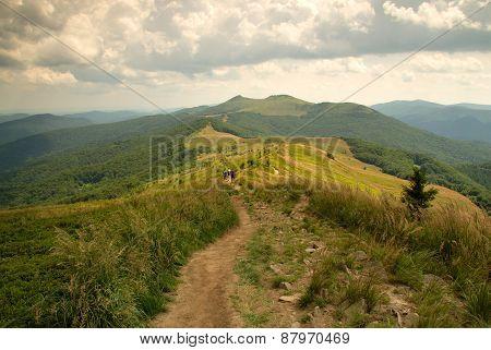 Mountin Path In Bieszczady