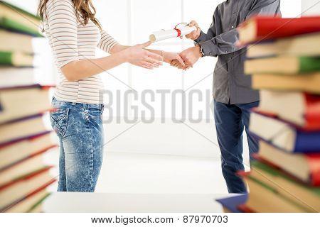 Congratulating For Graduation.
