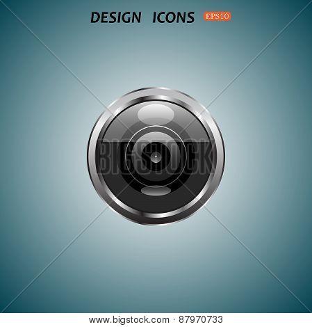 icon camera lens
